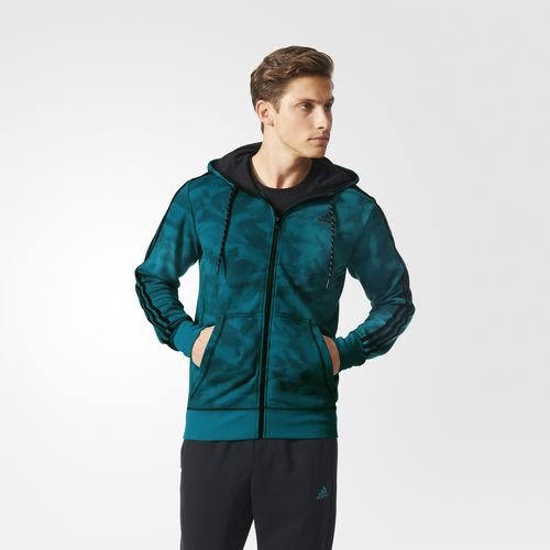 Exquisite Adidas Hoodie Green Sport Essentials 3Stripes Clothing Adidas Eye-Catching