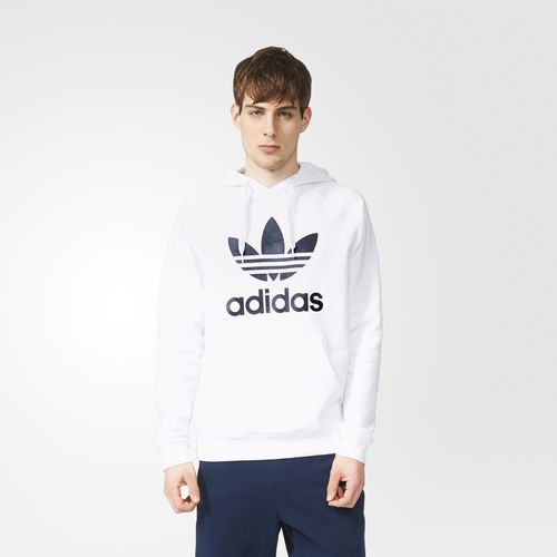 White Adidas Hoodie Trefoil Clothing Adidas Coupon